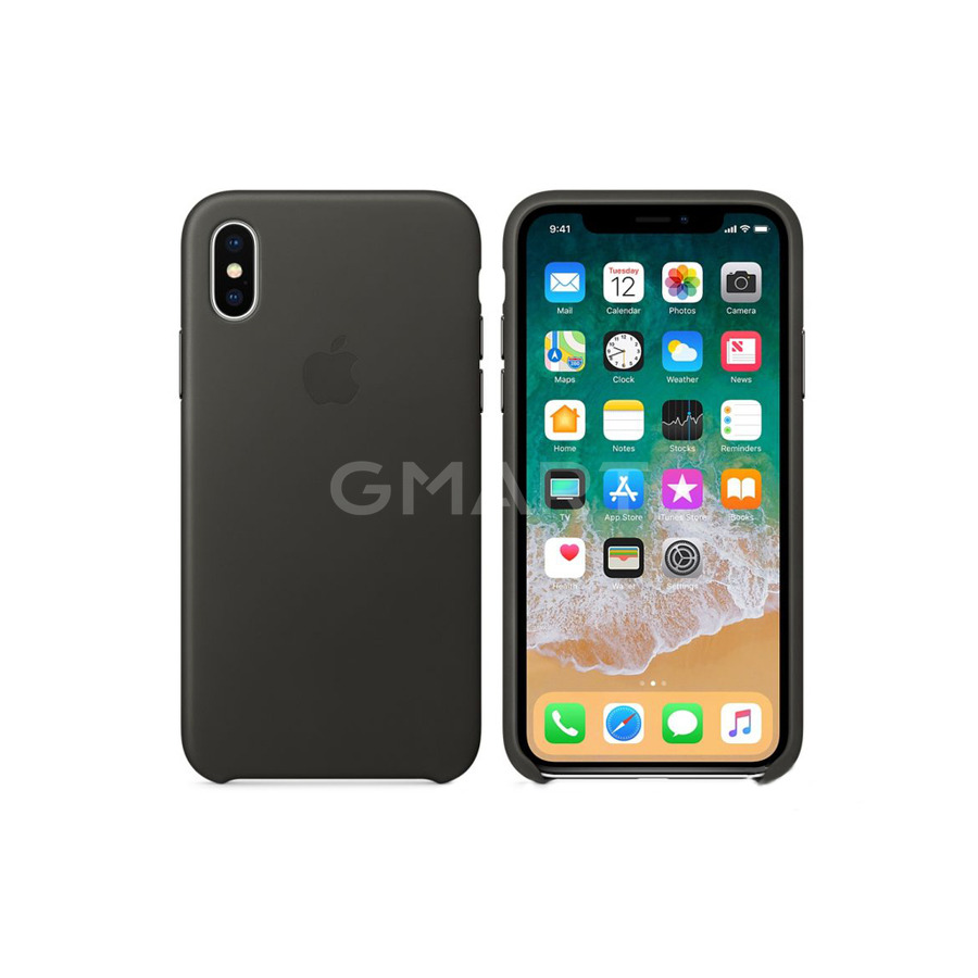 Чехол силиконовый Apple Silicone Case iPhone X Charcoal Gray