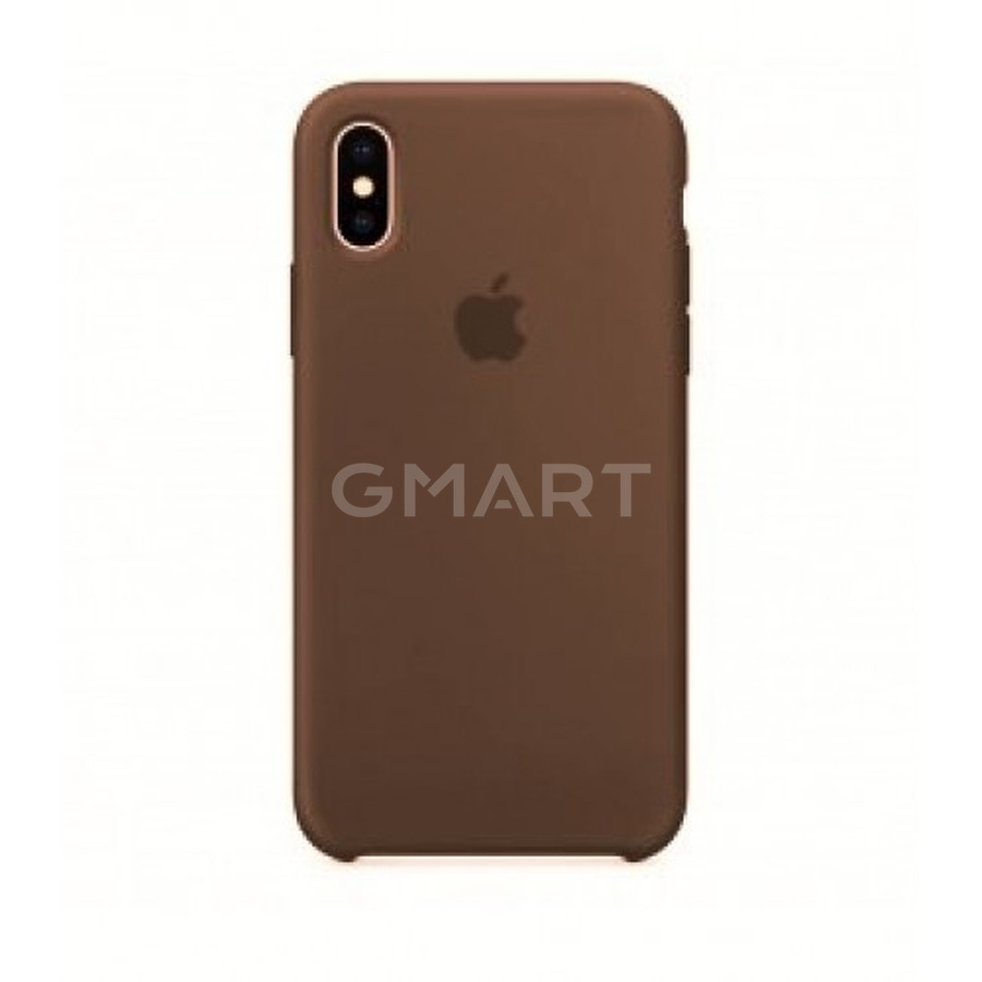 Чехол силиконовый Apple Silicone Case iPhone X Dark Brown