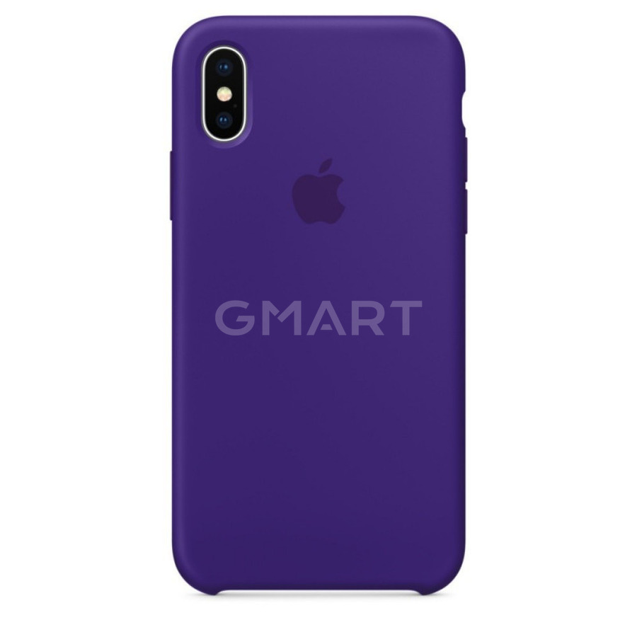 Чехол силиконовый Apple Silicone Case iPhone X Ultra Violet