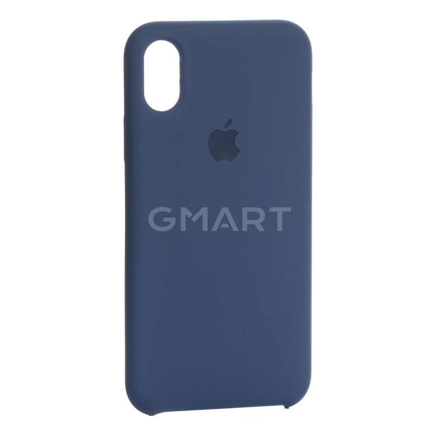 Чехол силиконовый Apple Silicone Case iPhone X Navy Blue