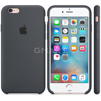 Чехол силиконовый Apple Silicone Case iPhone 6S Plus Charcoal Gray
