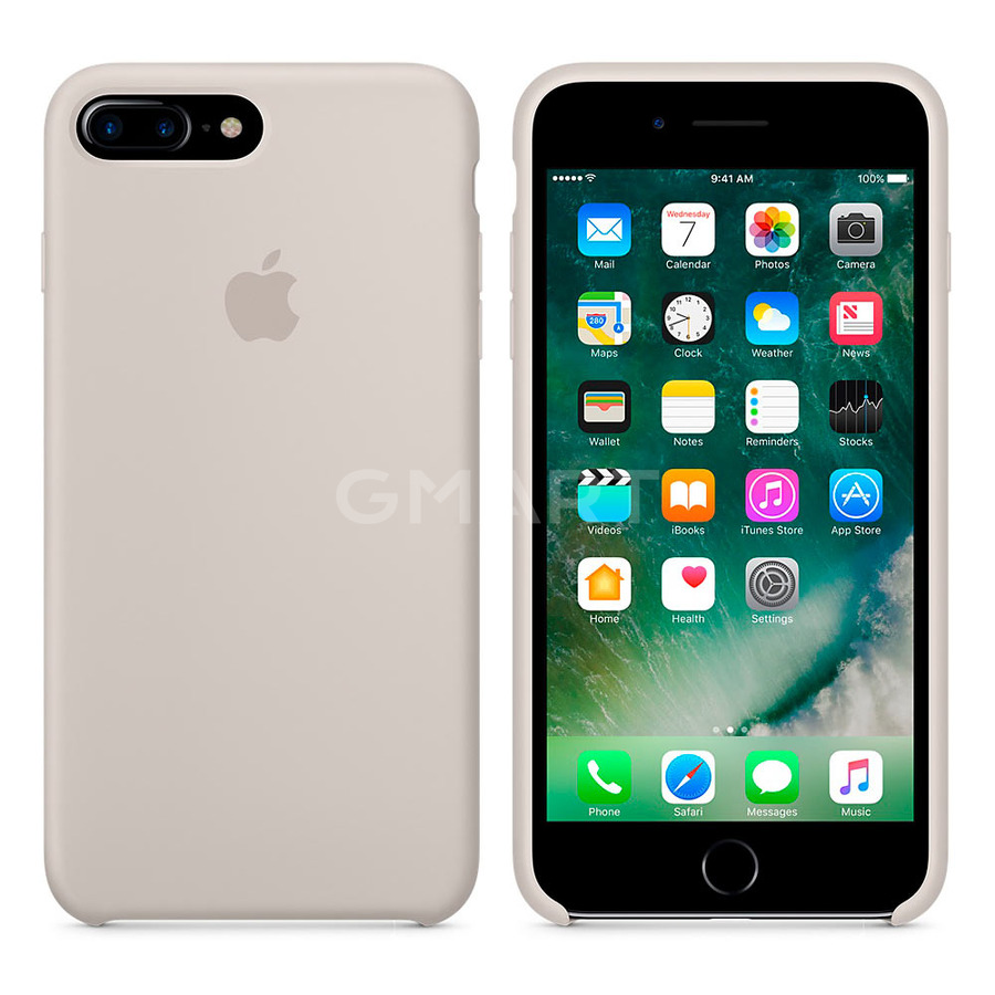 Чехол силиконовый Apple Silicone Case iPhone 7 Plus Stone