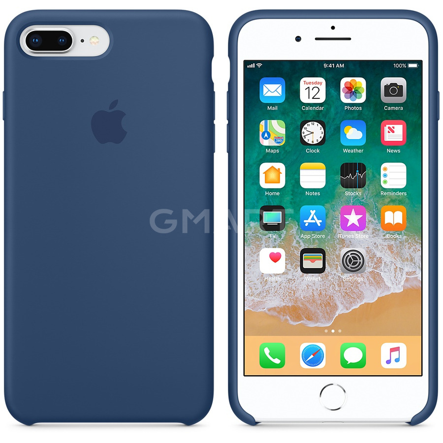 Чехол силиконовый Apple Silicone Case iPhone 8 Plus Cobalt Blue