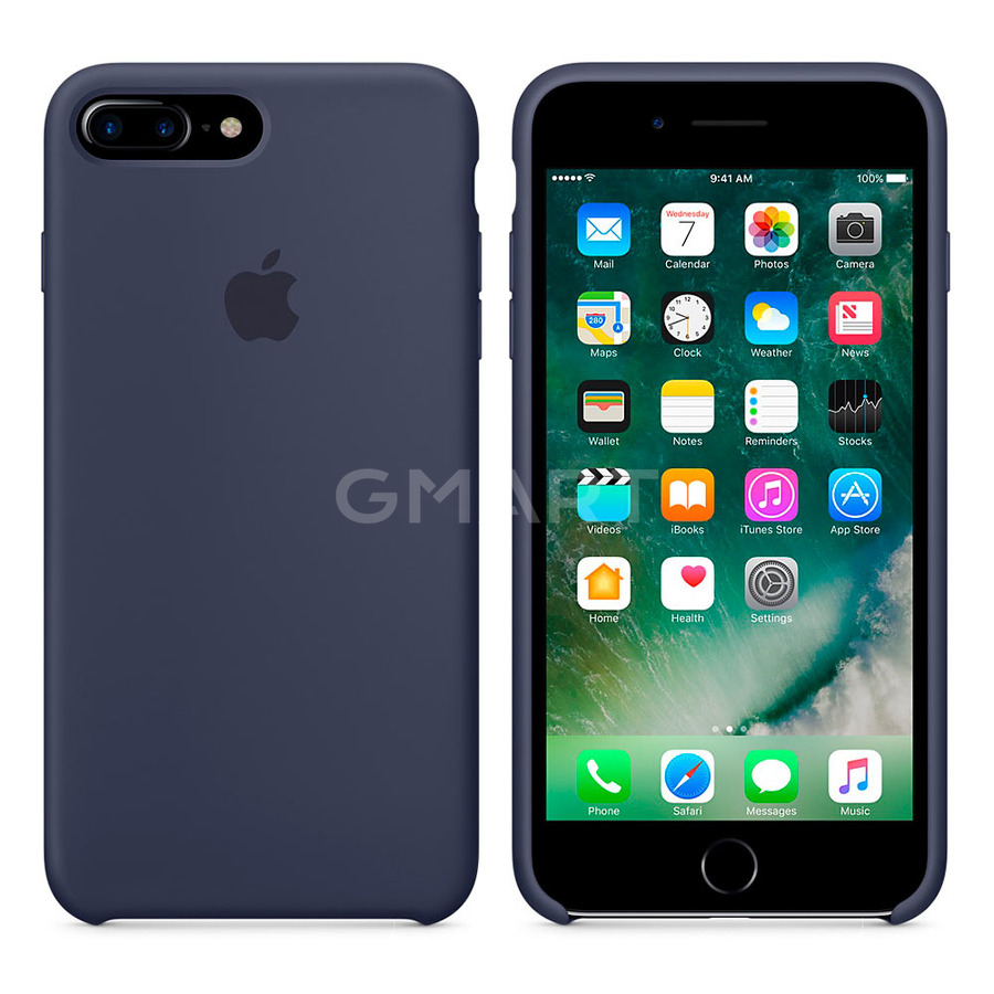 Чехол силиконовый Apple Silicone Case iPhone 8 Plus Midnight Blue