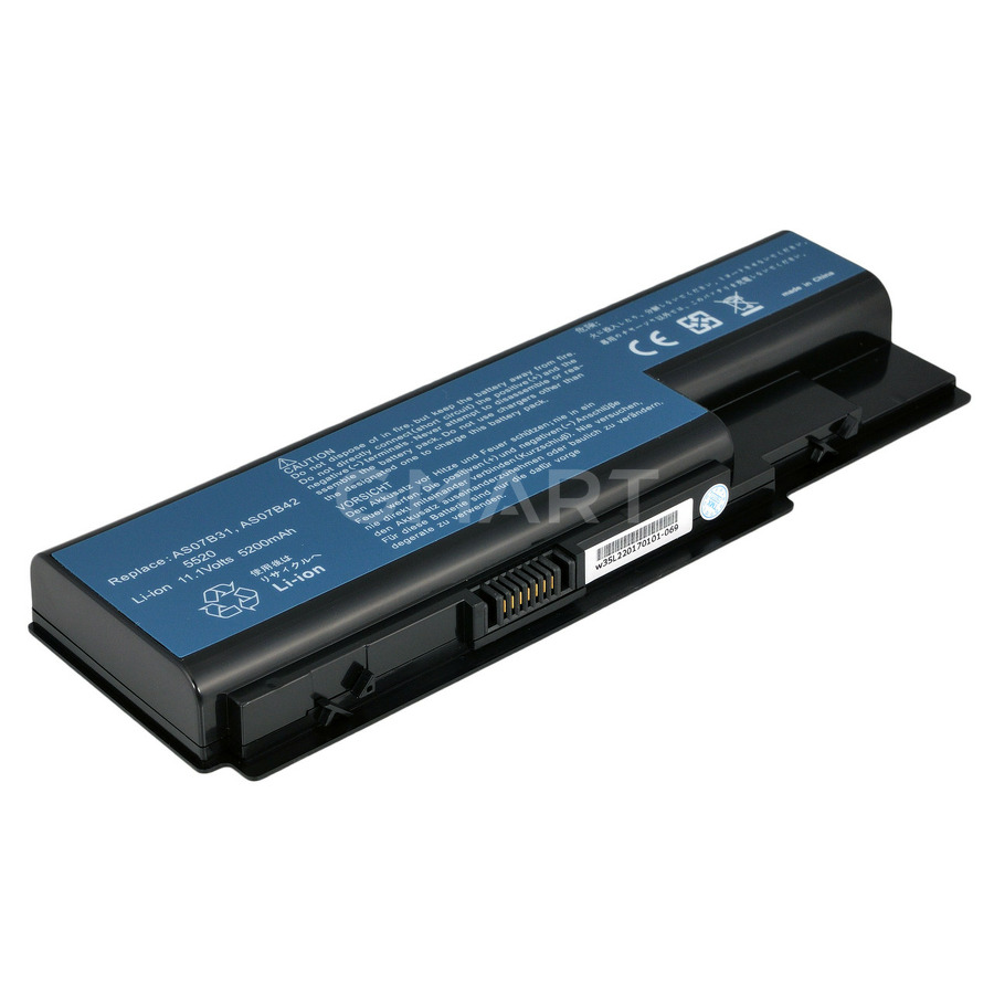 Аккумулятор Acer AS07B31 Aspire 5520 (10.8V 5200mAh) ABAT Plus