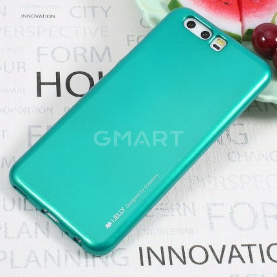 TPU чехол Mercury iJelly Metal series для Huawei P10 синий