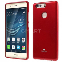 TPU чехол Mercury Jelly Color series для Huawei P9 Plus красный