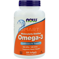 NOW_Omega-3 1000 мг - 200 софт кап, арт. 21133