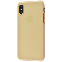 TPU чехол Baseus Simplicity Series With Pluggy (TPU) iPhone X/Xs золотистый
