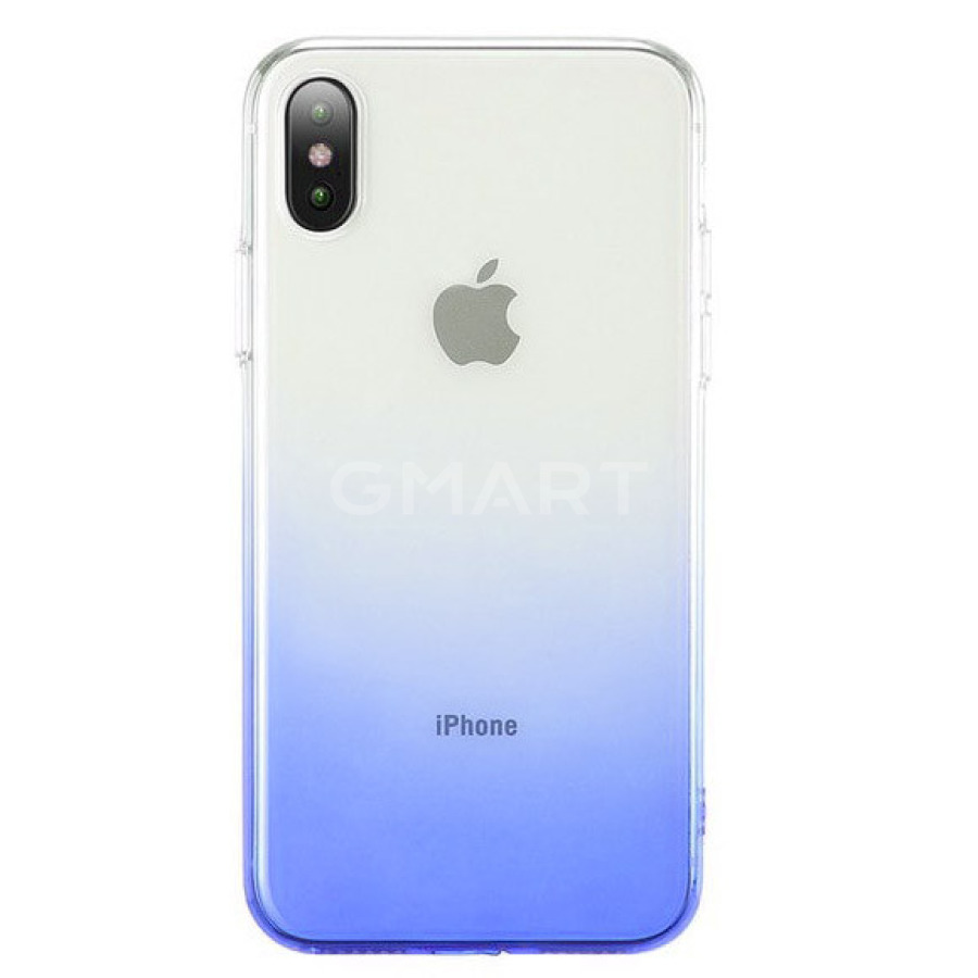 "TPU+PC Epik Ombre iPhone XS Max (6.5"") синий"